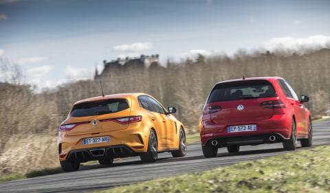 Mégane R.S. 280 EDC et Golf GTI Performance 245