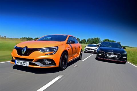 Mégane 4 R.S., i30 N Performance et Civic Type R 320