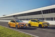 2 Mégane R.S. 2018 orange Tonic et jaune Sirius pack Cup